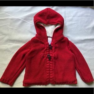 Gymboree Red Hooded Sweater